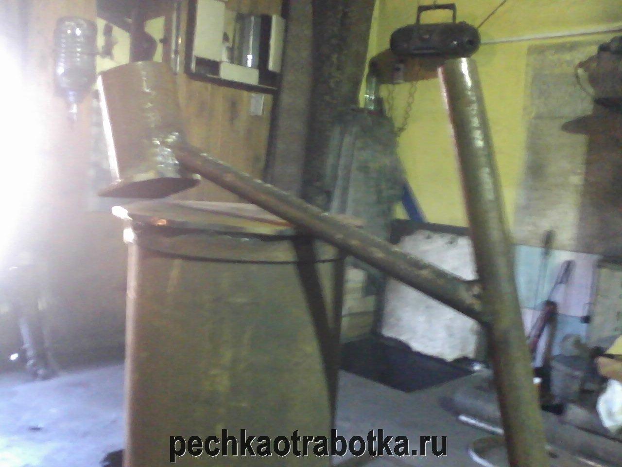 Печь на отработанном масле с форсункой своими руками
